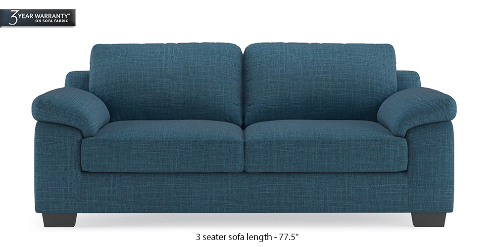 Esquel Sofa (Colonial Blue) (1-seater Custom Set - Sofas, None Standard Set - Sofas, Fabric Sofa Material, Regular Sofa Size, Regular Sofa Type, Colonial Blue) by Urban Ladder - - 313502