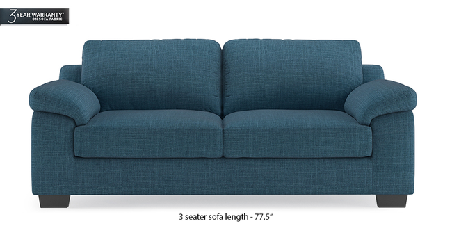 Esquel Sofa (Colonial Blue) (1-seater Custom Set - Sofas, None Standard Set - Sofas, Fabric Sofa Material, Regular Sofa Size, Regular Sofa Type, Colonial Blue)