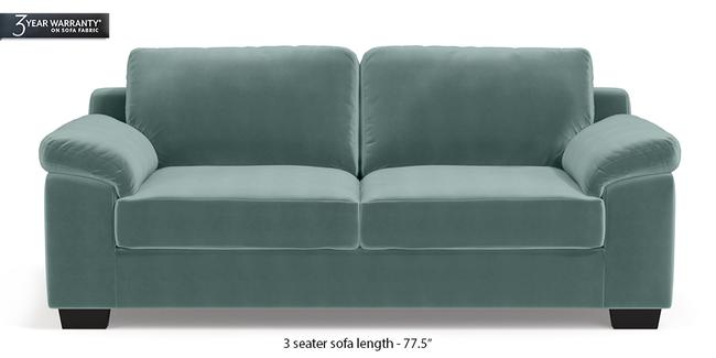 Esquel Sofa (Dusty Turquoise Velvet) (1-seater Custom Set - Sofas, None Standard Set - Sofas, Fabric Sofa Material, Regular Sofa Size, Regular Sofa Type, Dusty Turquoise Velvet)