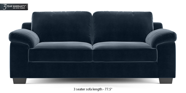Esquel Sofa (Sea Port Blue Velvet) (1-seater Custom Set - Sofas, None Standard Set - Sofas, Fabric Sofa Material, Regular Sofa Size, Regular Sofa Type, Sea Port Blue Velvet)