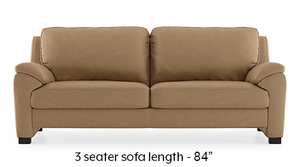 Farina Half Leather Sofa (Camel Italian Leather)