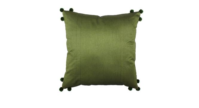 "Hariya Cushion Cover (Green, 41 x 41 cm  (16"" X 16"") Cushion Size) by Urban Ladder - Front View Design 1 - 313857"