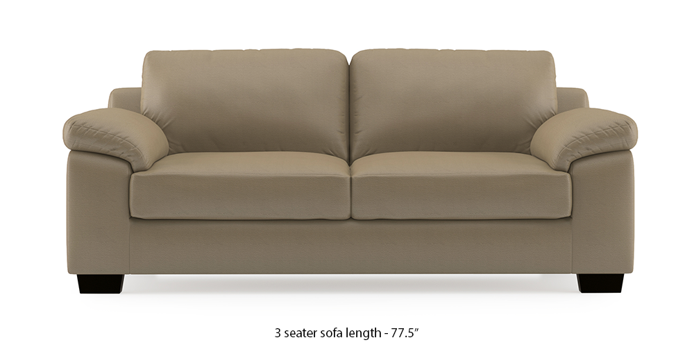 Esquel Leatherette Sofa (Cappuccino) (1-seater Custom Set - Sofas, None Standard Set - Sofas, Cappuccino, Leatherette Sofa Material, Regular Sofa Size, Regular Sofa Type) by Urban Ladder - - 313892