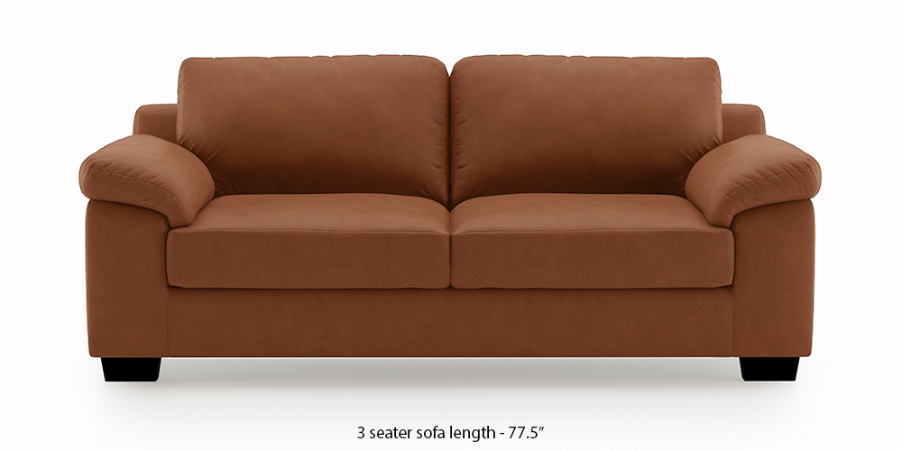 Esquel Leatherette Sofa (Tan Brown) (2-seater Custom Set - Sofas, None Standard Set - Sofas, Leatherette Sofa Material, Regular Sofa Size, Regular Sofa Type, Tan Brown) by Urban Ladder - -