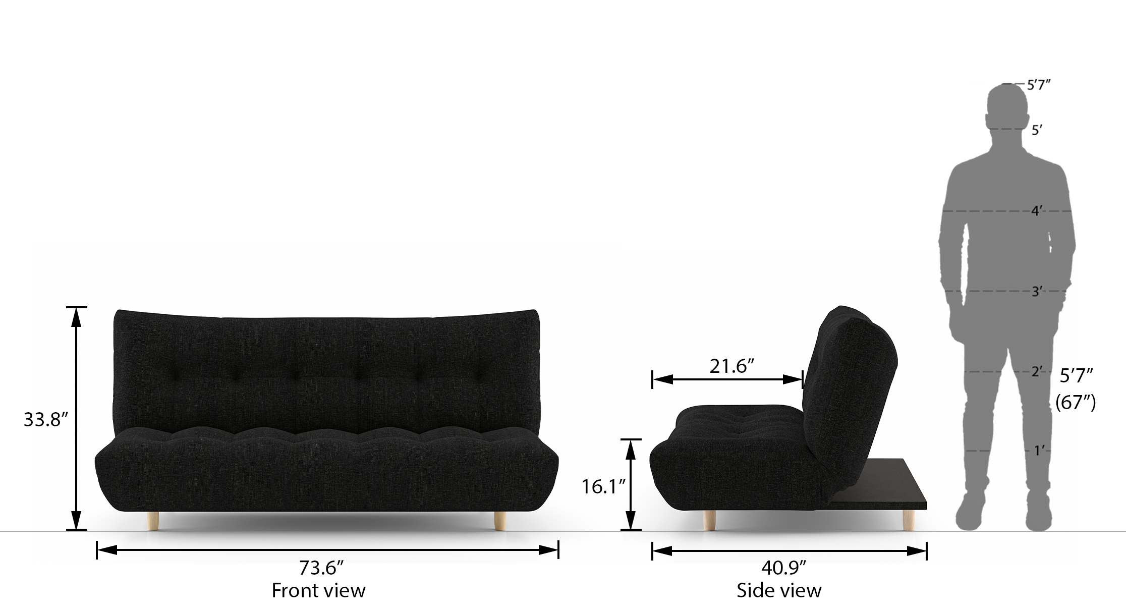 Palermo sofa bed jasmine 21