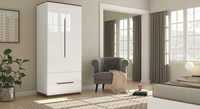Baltoro High Gloss 2 Door Wardrobe (White Finish) by Urban Ladder - Design 1 Full View - 314046