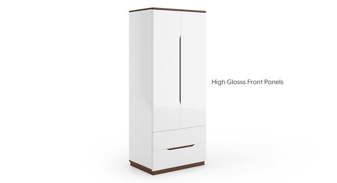 Baltoro High Gloss 2 Door Wardrobe (White Finish) by Urban Ladder - Front View Design 1 - 314047