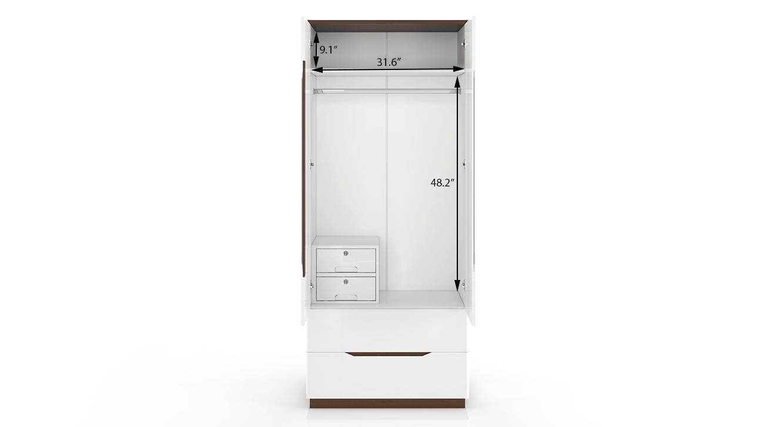 Baltoro wardrobe white 5