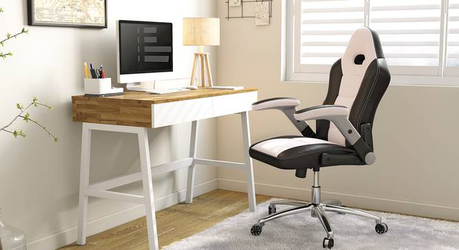 Mika Study Chair (White) by Urban Ladder - Design 1 Full View - 314083