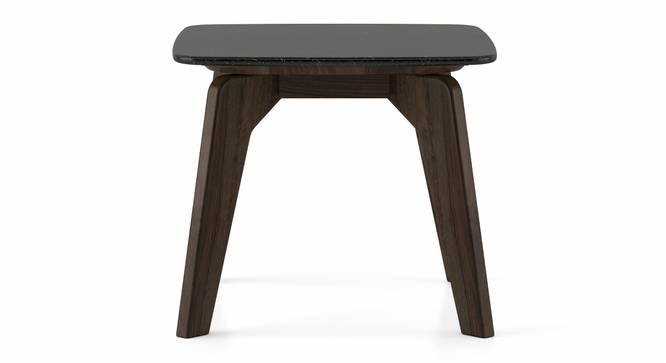 Galaxy Granite Top Side Table (American Walnut Finish) by Urban Ladder - Front View Design 1 - 314139