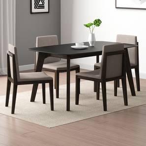 Galaxy Granite Top - Galatea 4 Seater Dining Table Set (American Walnut Finish) by Urban Ladder - Design 1 Full View - 314162