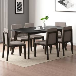 Galaxy - Galatea 6 Seater Dining Table Set (American Walnut Finish) by Urban Ladder - Front View Design 1 - 314174