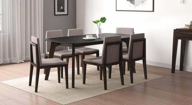 Galaxy Granite Top - Galatea 6 Seater Dining Table Set (American Walnut Finish) by Urban Ladder - Design 1 Full View - 314173