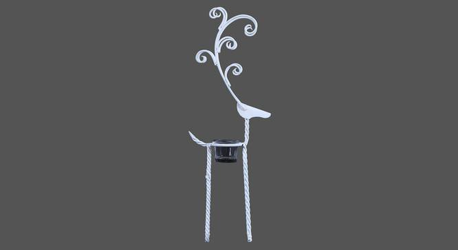 Carmen Candle Holder (White) by Urban Ladder - Front View Design 1 - 314199