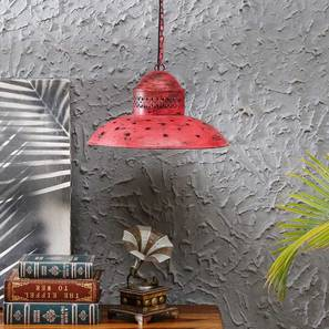 Ward Pendant Lamp (Red) by Urban Ladder - Design 1 - 314226