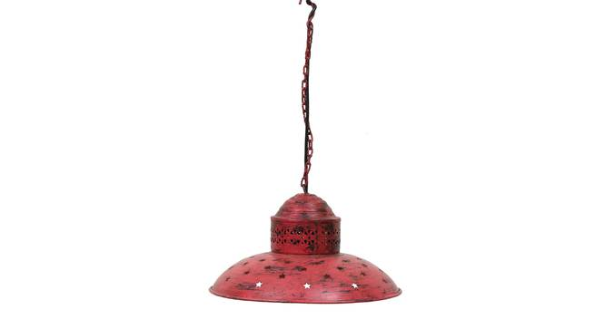 Ward Pendant Lamp (Red) by Urban Ladder - Front View Design 1 - 314227