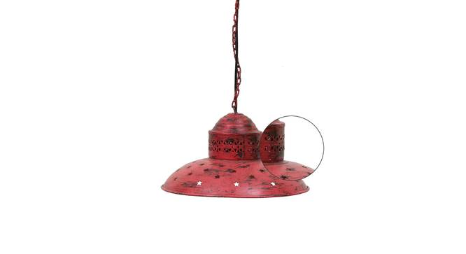 Ward Pendant Lamp (Red) by Urban Ladder - Rear View Design 1 - 314228