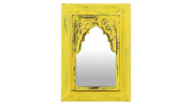 Cora Wall Mirror (Yellow) by Urban Ladder - Front View Design 1 - 314240