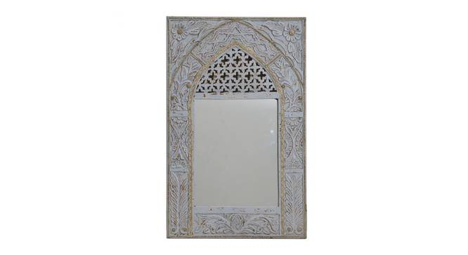 Waves Wall Mirror (White) by Urban Ladder - Front View Design 1 - 314299