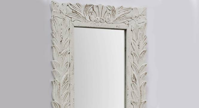 Waves Wall Mirror (White) by Urban Ladder - Design 1 Side View - 314300