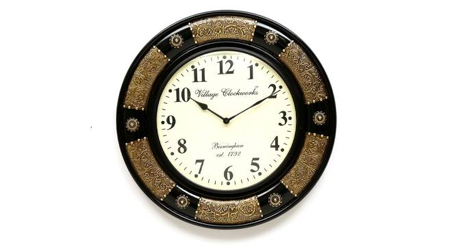 Bohr Wall Clock (Brass) by Urban Ladder - Front View Design 1 - 314303