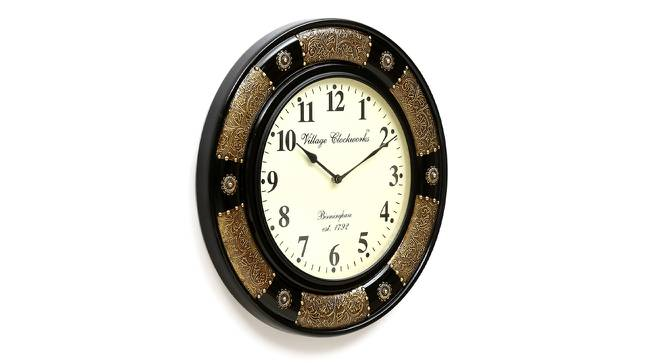 Bohr Wall Clock (Brass) by Urban Ladder - Design 1 Side View - 314304