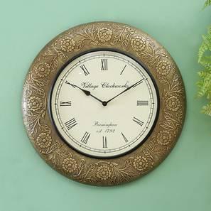 Heisenberg  Wall Clock (Brass) by Urban Ladder - Design 1 - 314307
