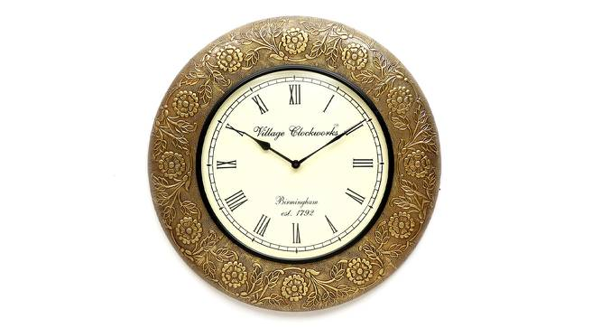 Heisenberg  Wall Clock (Brass) by Urban Ladder - Front View Design 1 - 314308
