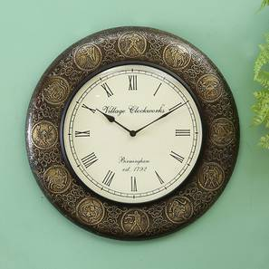 Albert  Wall Clock (Brass) by Urban Ladder - Design 1 - 314312