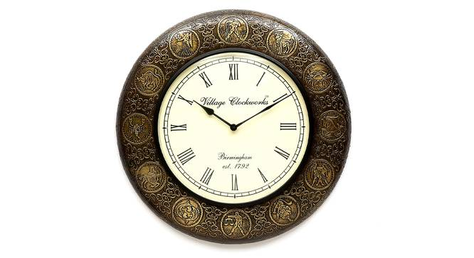 Albert  Wall Clock (Brass) by Urban Ladder - Front View Design 1 - 314313