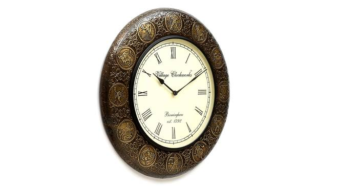 Albert  Wall Clock (Brass) by Urban Ladder - Design 1 Side View - 314314