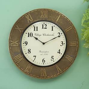 Dirac  Wall Clock (Brass) by Urban Ladder - Design 1 - 314322