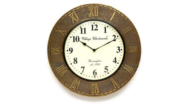 Dirac  Wall Clock (Brass) by Urban Ladder - Front View Design 1 - 314323