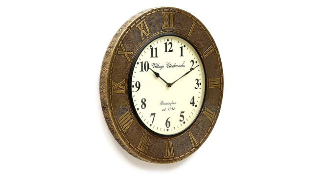 Dirac  Wall Clock (Brass) by Urban Ladder - Design 1 Side View - 314324