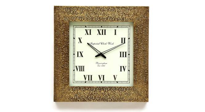 Penrose  Wall Clock (Brass) by Urban Ladder - Front View Design 1 - 314333