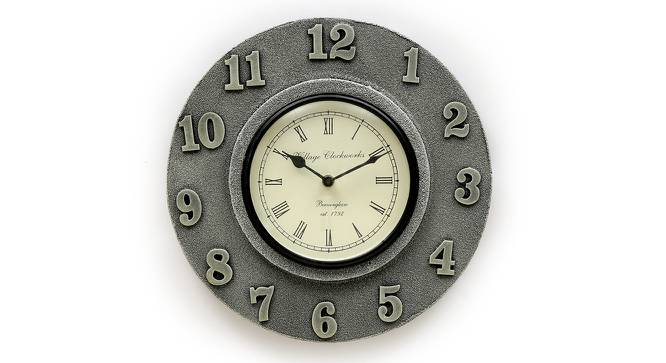 Claude  Wall Clock (Silver) by Urban Ladder - Front View Design 1 - 314338