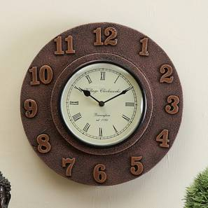 Rovelli  Wall Clock (Brown) by Urban Ladder - Design 1 - 314342