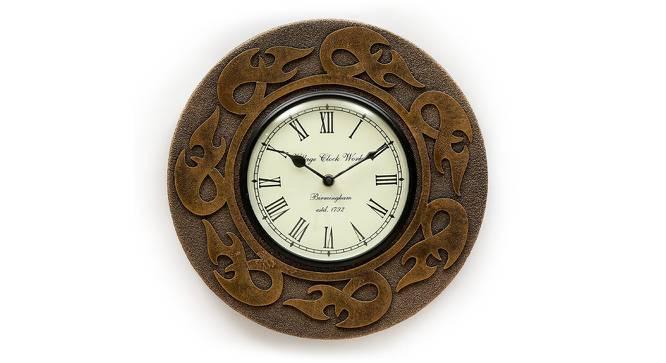 Allen  Wall Clock (Brown) by Urban Ladder - Front View Design 1 - 314348