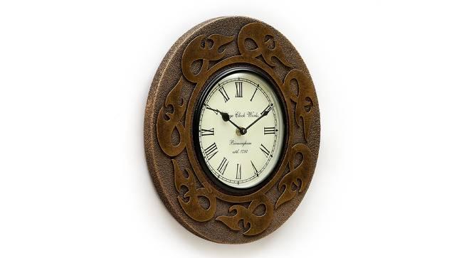 Allen  Wall Clock (Brown) by Urban Ladder - Design 1 Side View - 314349