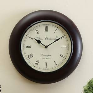 Paul  Wall Clock (Matt Black) by Urban Ladder - Design 1 - 314352