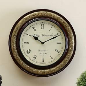 David  Wall Clock (Brass) by Urban Ladder - Design 1 - 314372