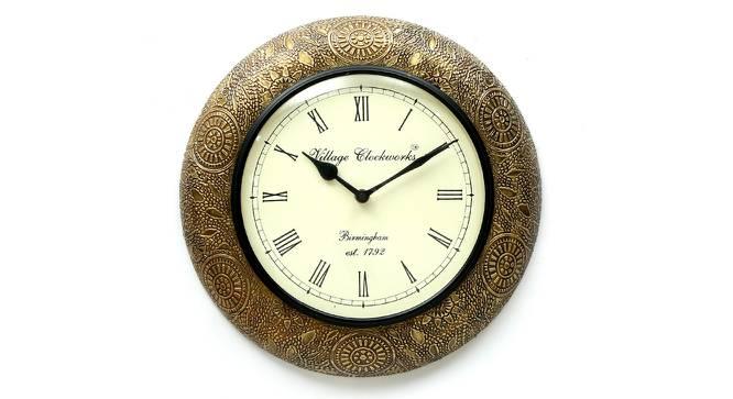 Stewart  Wall Clock (Brass) by Urban Ladder - Front View Design 1 - 314393