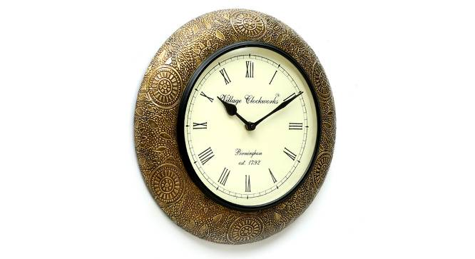 Stewart  Wall Clock (Brass) by Urban Ladder - Design 1 Side View - 314394