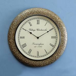 Caroll  Wall Clock (Brass) by Urban Ladder - Design 1 - 314402