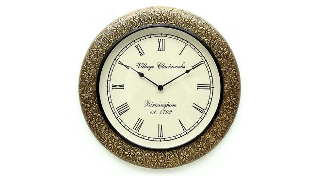 Caroll  Wall Clock (Brass) by Urban Ladder - Front View Design 1 - 314403
