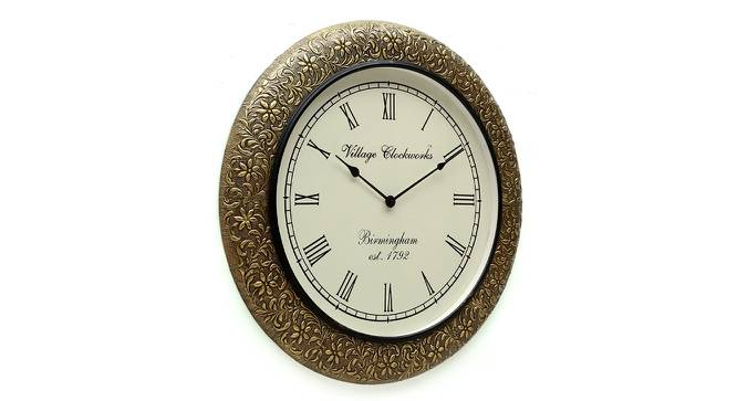 Caroll  Wall Clock (Brass) by Urban Ladder - Design 1 Side View - 314404