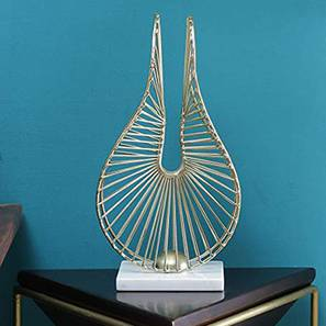 Abstract Lotus Showpiece (Gold, Big Size) by Urban Ladder - Design 1 - 314767