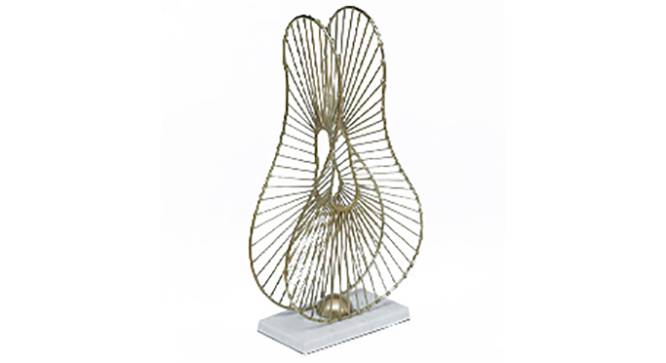 Abstract Lotus Showpiece (Gold, Big Size) by Urban Ladder - Front View Design 1 - 314768