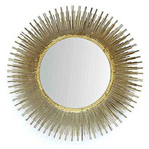 Gabe Wall Mirror (Gold) by Urban Ladder - Design 1 - 314817