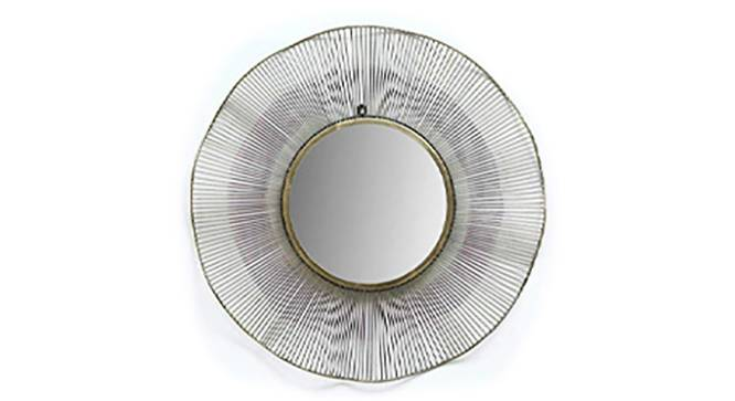 Atha Wall Mirror (Gold) by Urban Ladder - Front View Design 1 - 314836
